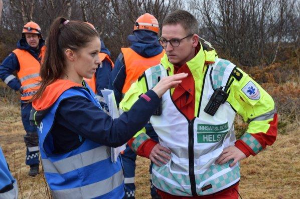 Maria Strandås og innsatsleder for helse