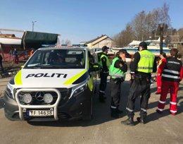 Politiet er på plass i Fauske